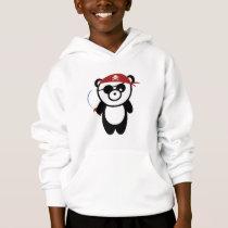Pirate Panda Kids Hooded Sweatshirt
