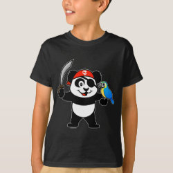 Kids' Hanes TAGLESS® T-Shirt with Pirate Panda design