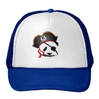 Pirate panda trucker hat