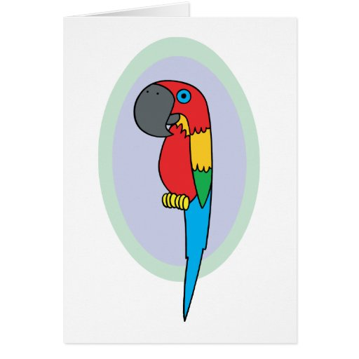 Pirate Parrot Greeting Card