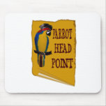 Pirate Parrot Head Mouse Pad