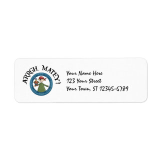 Pirate Parrot Label Return Address Label