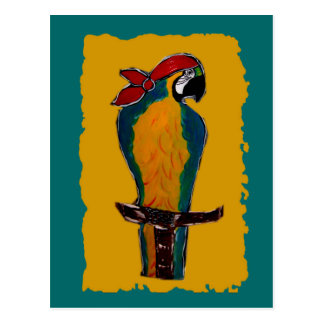 Pirate Parrot Postcard