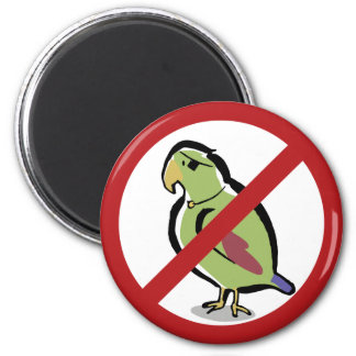 Pirate parrot prohibited 2 inch round magnet