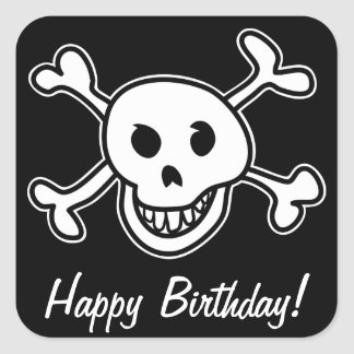 Pirate party birthday stickers