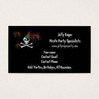 Pirate Party Business Card Template