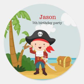 Pirate party classic round sticker