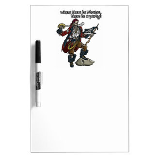 Pirate Party Dry Erase Board
