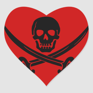 Pirate Party - FTW Heart Sticker