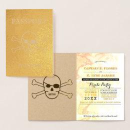 Pirate Party Gold Foil Passport Foil Card