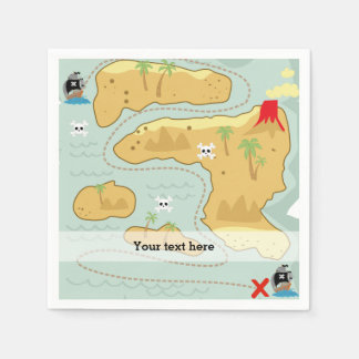Pirate party paper napkin