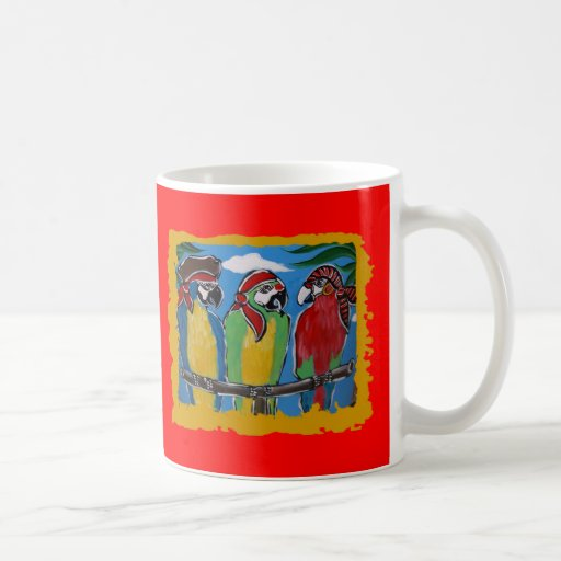 Pirate Party  Parrots Classic White Coffee Mug