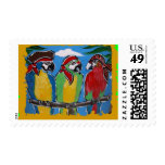 Pirate Party  Parrots Postage Stamp