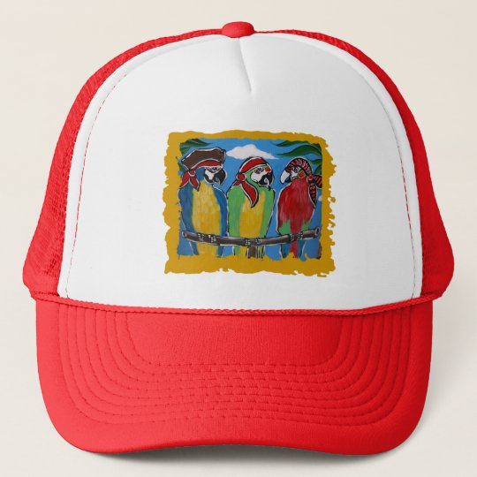 Pirate Party  Parrots Trucker Hat