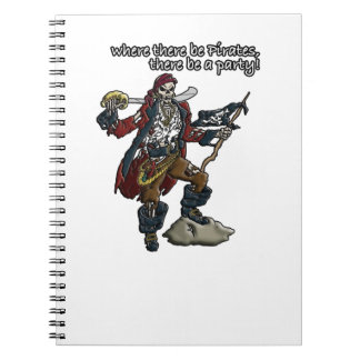 Pirate Party Spiral Notebook