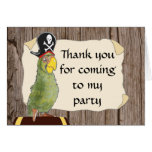 Pirate Party Thank You Card