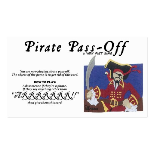 Pirate Pass-Off Business Cards