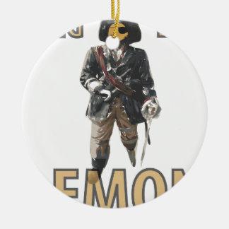 Pirate 'Peg Leg' Lemon Ceramic Ornament