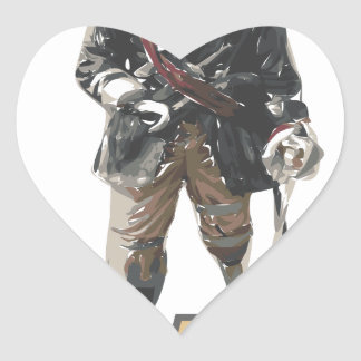 Pirate 'Peg Leg' Lemon Heart Sticker