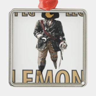 Pirate 'Peg Leg' Lemon Metal Ornament