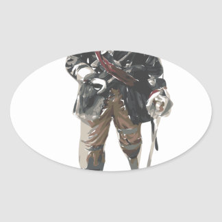 Pirate 'Peg Leg' Lemon Oval Sticker