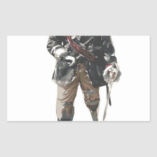 Pirate 'Peg Leg' Lemon Rectangular Sticker