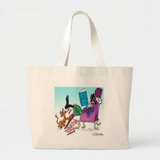 Pirate Peg Leg Scratching Post Canvas Bag