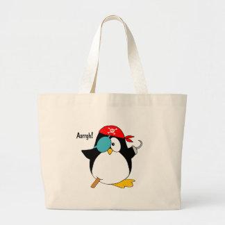 Pirate Penguin Tote Bag