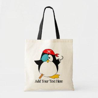 Pirate Penguin Canvas Bag