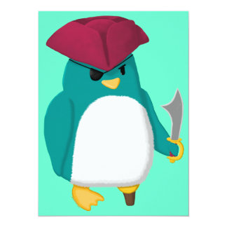 Pirate Penguin Card