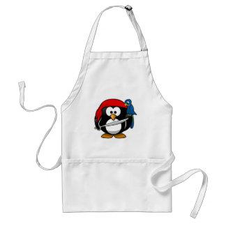 Pirate Penguin Cute Art Adult Apron