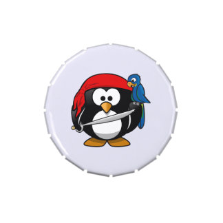 Pirate Penguin Cute Art Jelly Belly Candy Tin