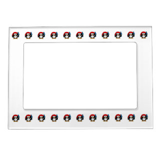 Pirate Penguin Cute Art Magnetic Picture Frame