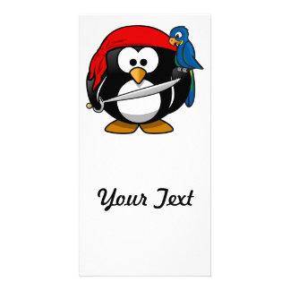 Pirate Penguin Cute Art Picture Card