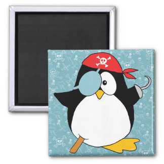 Pirate Penguin Drawing Magnet