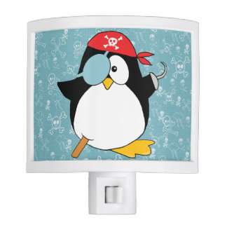 Pirate Penguin Drawing Night Light