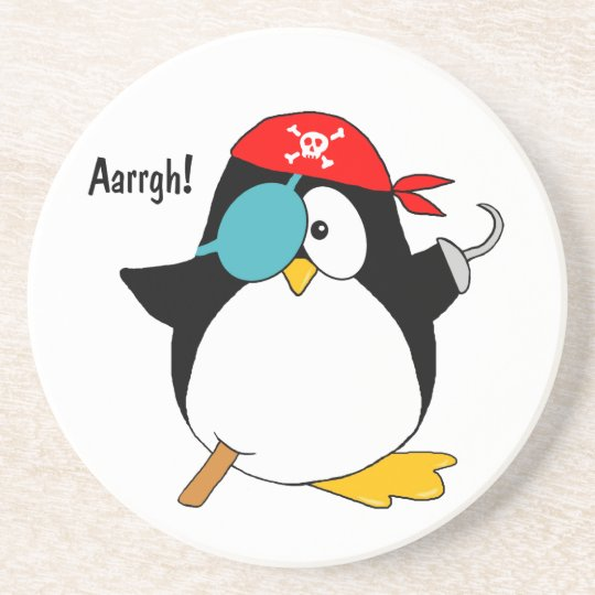 Pirate Penguin Drink Coaster