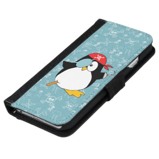 Pirate Penguin Graphic iPhone 6 Wallet Case
