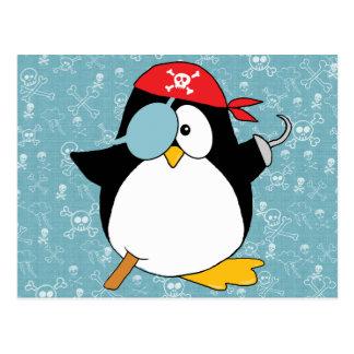 Pirate Penguin Graphic Postcard