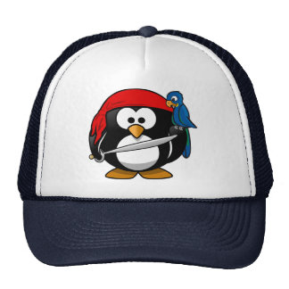 Pirate Penguin Trucker Hats