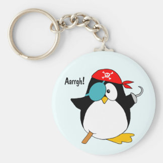 Pirate Penguin Keychain