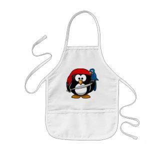 Pirate Penguin Kids' Apron