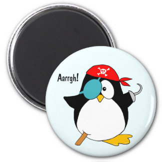 Pirate Penguin 2 Inch Round Magnet