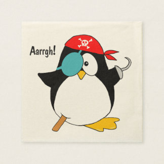Pirate Penguin Napkin