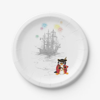 Pirate Penguin Paper Plate
