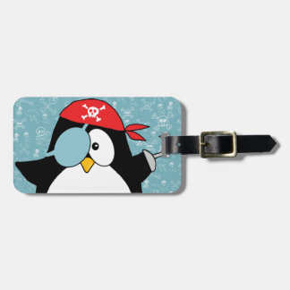 Pirate Penguin Personalized Tag For Luggage