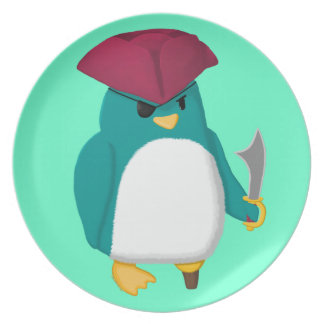 Pirate Penguin Party Plate