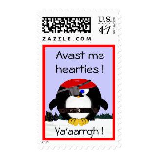Pirate Penguin Postage