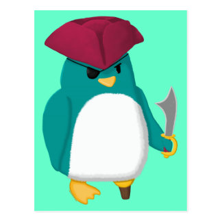 Pirate Penguin Postcard