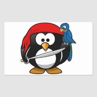 Pirate Penguin Rectangular Sticker